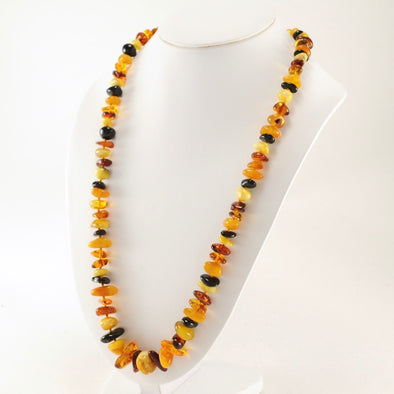 26 Inch Baltic Amber Multicolored Bead Necklace
