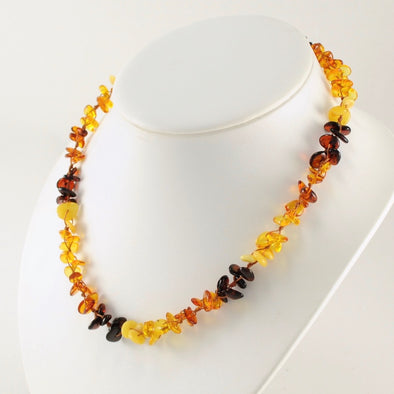 18 Inch Baltic Amber Multicolor Necklace