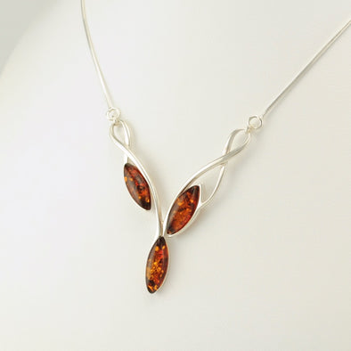 Amber 3 Marquise Necklace