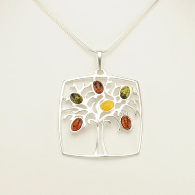 Baltic Amber Tree Pendant