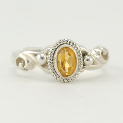 Citrine 4x6mm Oval Ring Size 7
