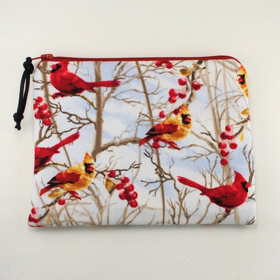 Cardinal Forest Jewelry Zipper Pouch