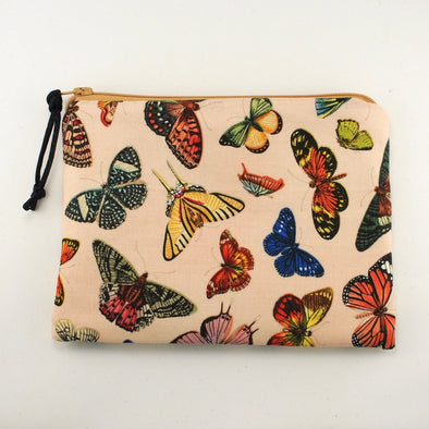 Paris Butterflies Jewelry Zipper Pouch