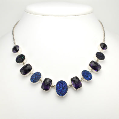 Amethyst Druzy Agate Necklace