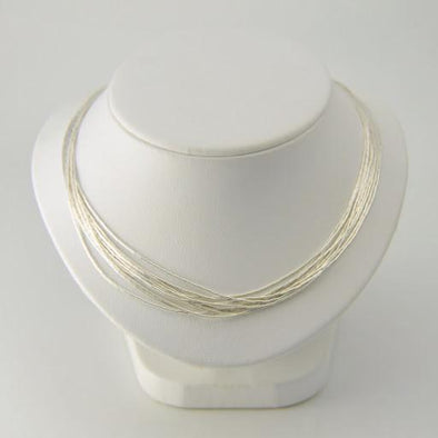 Sterling Silver 16 to 18 Inch 10 Strand Liquid Necklace