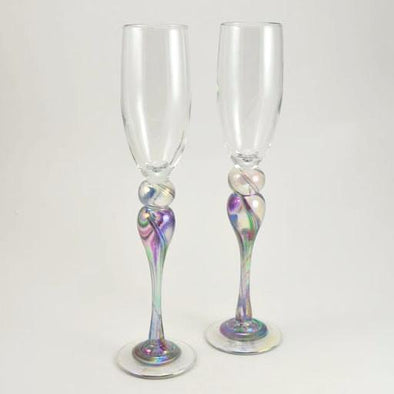 Pair of Cool Mix Champagne Flutes