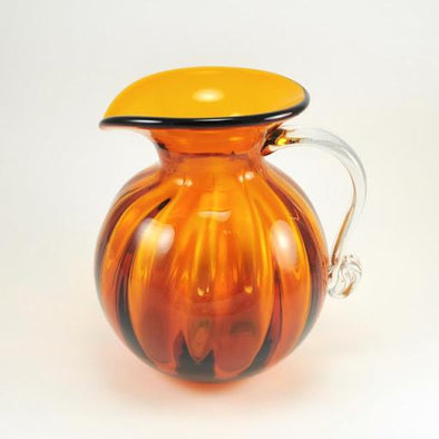 Blenko Glass Topaz Optic Pitcher