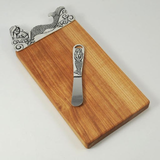 Mermaid Cutting Board with Pate Knife