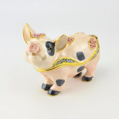 Spotted Pig Enamel Box