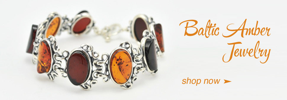 Sterling Silver Baltic Amber Jewelry