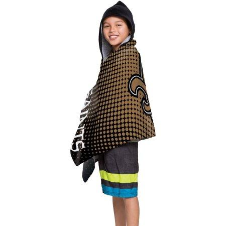 "NFL New Orleans Saints ""Dots"" Youth Hooded Towel"