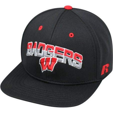 NCAA University of Wisconsin Badgers Flatbill Baseball Hat \ Cap