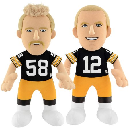 "Bleacher Creatures Dynamic Duo 10"" Plush Figures, Steelers Bradshaw and Lambert"
