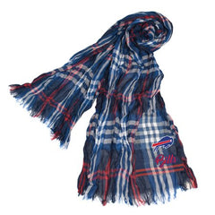 Little Earth - NFL Crinkle Plaid Scarf, Buffalo Bills