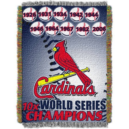 "MLB 48"" x 60"" Commemorative Series Tapestry Throw, Cardinals"