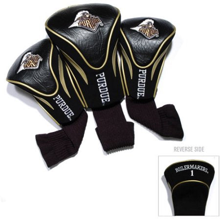 NCAA Purdue Boilermakers 3 Pack Contour Head Covers