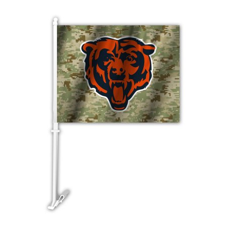 NFL Chicago Bears Camo Car Flag