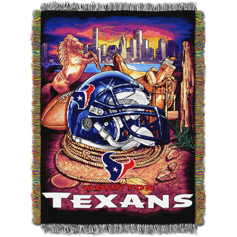 "NFL 48"" x 60"" Tapestry Throw Home Field Advantage Series- Texans"