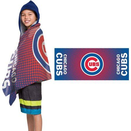 "MLB Chicago Cubs ""Dots"" Youth Terry Cloth Hooded Wrap Towel"