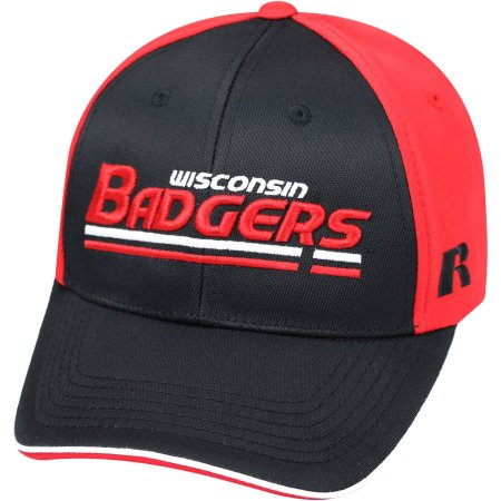 NCAA University of Wisconsin Badgers Away Two Tone Baseball Hat \ Cap