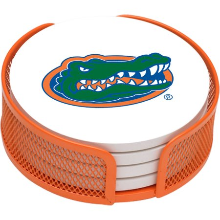 NCAA Florida Gators Stoneware Drink Coaster Set with Holder Included