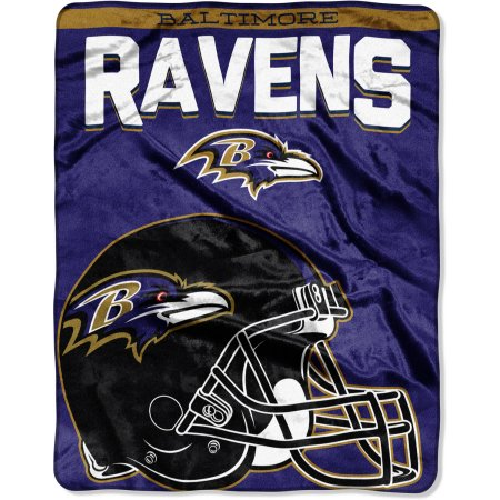 "NFL Baltimore Ravens ""Drawback"" 55"" x 70"" Silk Touch Throw"