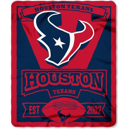 "NFL Houston Texans 50"" x 60"" Fleece Throw"