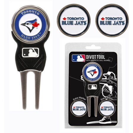 Team Golf MLB Toronto Blue Jays Divot Tool Pack With 3 Golf Ball Markers
