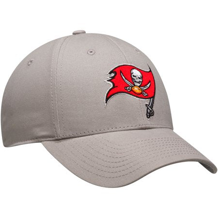 NFL Men's Gray Tampa Bay Buccaneers Basic Adjustable Hat - OSFA