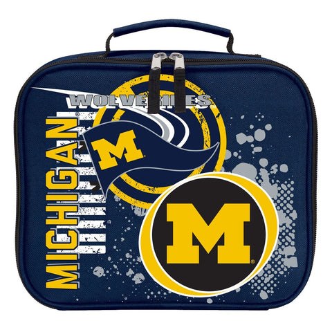"Michigan Wolverines ""Accelerator"" Backpack and Lunch Bag / Box Set"