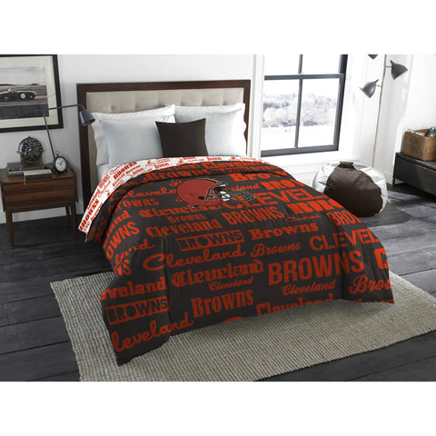 "NFL Cleveland Browns ""Anthem"" Twin/Full Bedding Comforter"