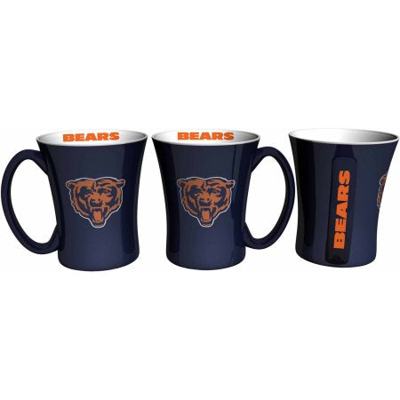 Boelter Brands NFL Set of Two 14 Ounce Victory Mugs, Chicago Bears