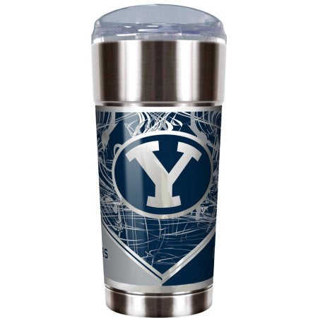 "NCAA BYU Cougars ""The EAGLE"" 24 oz Vacuum Insulated Stainless Steel Tumbler"