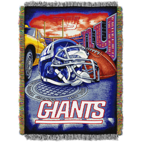 "NFL 48"" x 60"" Tapestry Throw Home Field Advantage Series- Giants"