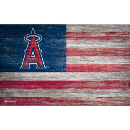 MLB Los Angeles Angels 11'' x 19'' Distressed Flag Sign