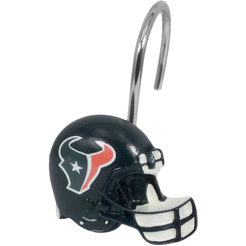 NFL Houston Texans 12-Piece Shower Curtain Ring / Hook Set