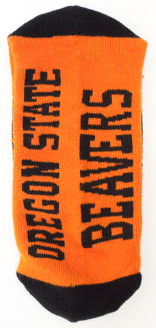 NCAA Oregon State Beavers Orange Quarter Socks