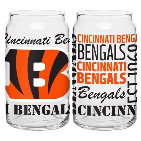 Boelter Brands NFL Set of Two 16 Ounce Spirit Glass Can Set, Cincinnati Bengals