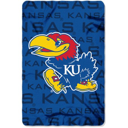 "NCAA Kansas Jayhawks 40"" x 60"" Fleece Throw"