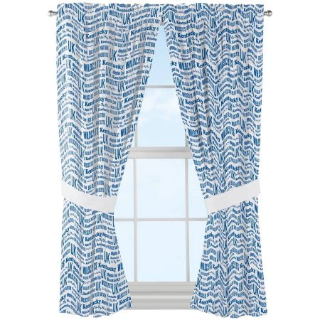 "NCAA Kentucky Wildcats ""Anthem"" Window Curtain Panels - Set of 2 - 36"" x 48"""