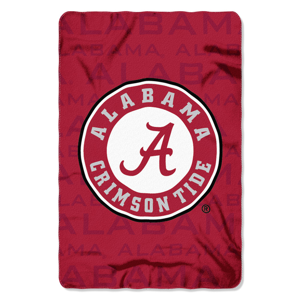 "NCAA Alabama Crimson Tide ""Shadow"" 40""x 60"" Fleece Throw Blanket"
