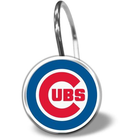 MLB Chicago Cubs Shower Curtain Hooks 12 Piece Set