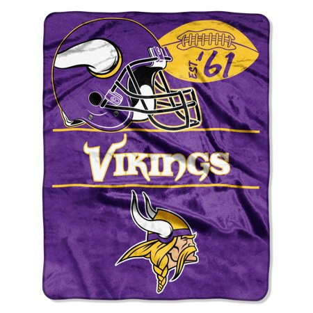 "NFL Minnesota Vikings ""Conference"" - Silk Touch Throw Blanket, 55"" x 70"""