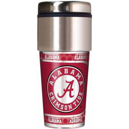 NCAA Alabama 16-Ounce Travel Tumbler with Metallic Wrap