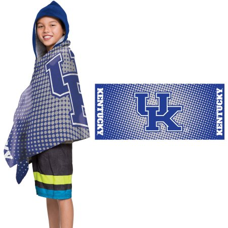 "NCAA Kentucky Wildcats ""Dots"" Youth Terry Cloth Hooded Wrap Towel"