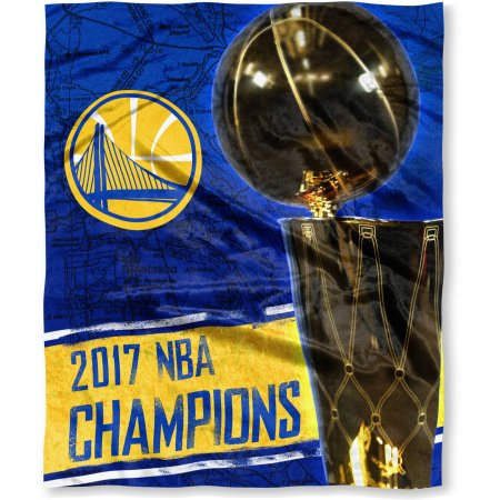 "Official National Basketball Association Golden State Warriors ""2017 NBA Champions"" 50"" x 60"" High Definition Silk Touch Throw"