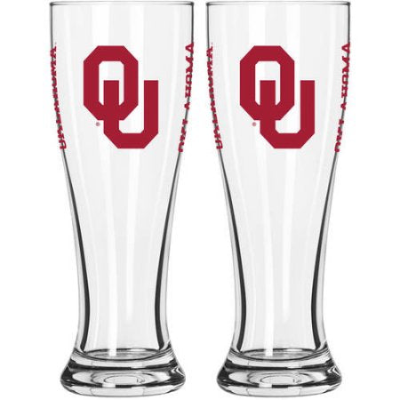 NCAA University of Oklahoma Sooners 2-Pack Gameday Pilsner Set