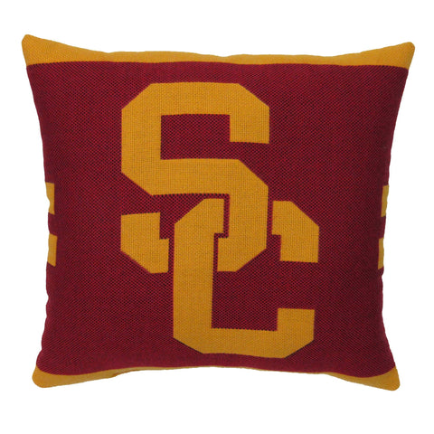 "NCAA USC Trojans 20"" Square Decorative Woven Pillow"