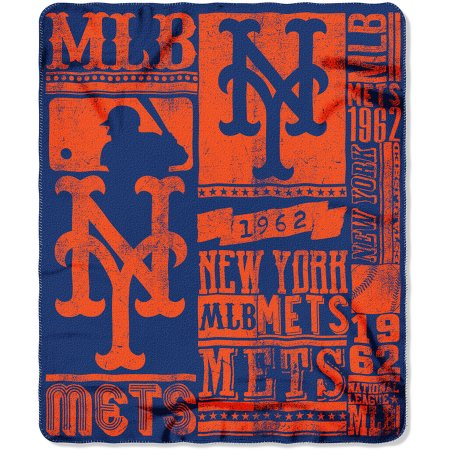 "MLB New York Mets 50"" x 60"" Fleece Throw"