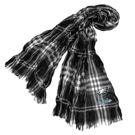 Little Earth - NFL Crinkle Plaid Scarf, Philadelphia Eagles